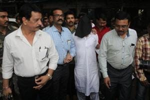 Iqbal Kaskar at Thane court