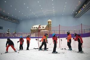 Love skiing? Visit the world's largest indoor ski park in China