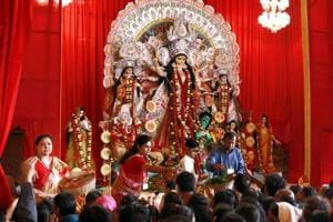 Every year lakhs of devotees visit pandals in CR Park during the Durga Puja celebrations.
