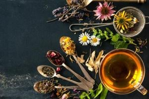 Wildflowers and various herbs for herbal tea.