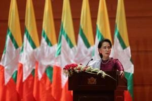 Myanmar's Aung San Suu Kyi denies going 'soft' on military