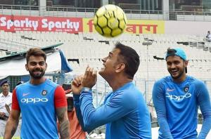 Wet conditions no damper for Indian cricket team at Eden Gardens