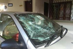 Kerala: Car parked in news channel's office vandalised; Opp terms it...
