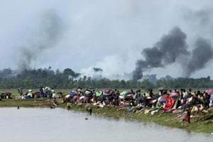 Rohingya villages burnt to the ground in Myanmar, sparking one of...