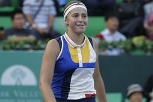 Jelena Ostapenko advances to Korea Open tennis quarterfinals