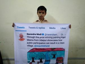 Narendra Modi praises Udaipur boy for drawing on Swachh Bharat