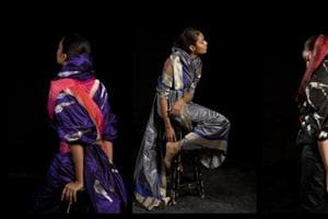 Designer Tanira Sethi's latest line of work brings together traditional Benarasi drapes and a touch of origami.