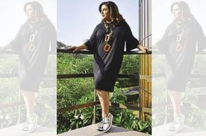 Farah Khan would have loved to choreograph for Kishore Kumar. She wears a dress from Zara, shoes from Aldo and a neck-piece by Cult Curator (Hair styling by Kunda )