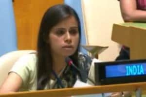 Young diplomat Eenam Gambhir delivers India's response to Pak, a year...