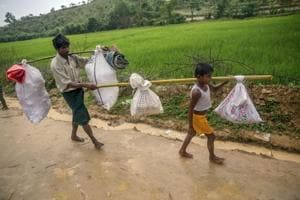 BSF using chilli sprays, stun grenades to stop Rohingya Muslims from...
