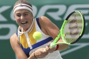 Jelena Ostapenko storms to Korea Open tennis semifinals