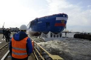 Russia floats powerful nuclear icebreaker Sibir