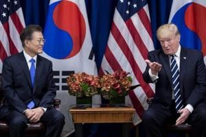 Donald Trump, South Korea's Moon agree to boost defenses, says White...