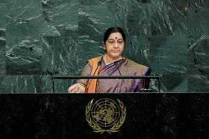 Demonetisation a courageous step to challenge black money: Sushma...