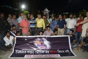 Tripura journalists demand CBI probe into Santanu Bhowmik's murder