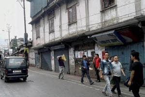Shops and business establishments remain shut as the indefinite bandh called by Gorkha Janmukti Morcha for a separate state of Gorkhaland in Darjeeling Hills  continues.