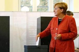 Merkel casts ballot in German election
