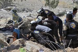 Russian airstrikes kill 45 Syrian rebels, says monitor