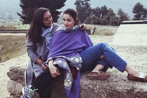 Alia Bhatt has shared photos from Kashmir, where she is currently filming Raazi with filmmaker MeghnaGulzar and actor Vicky Kaushal.