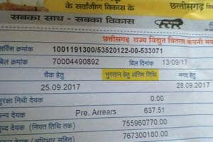 Chhattisgarh farmer gets electricity bill of Rs 76.73 crore for one...