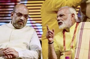 Prime Minister Narendra Modi and BJP President Amit Shah at party