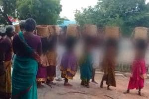 A temple in Vellalur village of Madurai district follows this ancient tradition where the priest selects seven girls between ages of 10 and 14 to live in the temple for a fortnight. The girls are forced to remain bare-chested and cover their upper body only with jewellery and flowers.