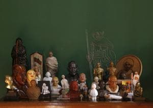Chaudhuri has amassed almost 50 unusual and wonderful  Gandhi figurines over half a decade.
