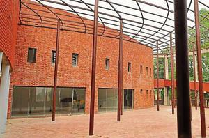The new museum at Khatkar Kalan village, the native village of Shaheed Bhagat Singh in SBS Nagar. Officials say construction work on the building is complete, but installation of artworks in the galleries is yet to start.