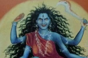 Goddess Kaalratri is also known as Kaali Maa, because of her dark complexion.