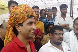 AAP Rajasthan in-charge, Kumar Vishwas at Rajasthan University.
