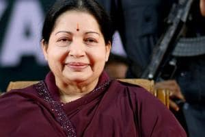 File picture of AIADMK supremo J Jayalalithaa during a swearing-in ceremony in Chennai.