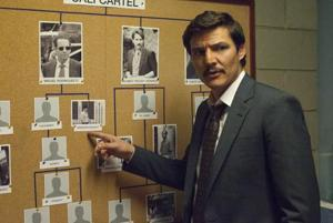 Pedro Pascal in a still from Narcos.