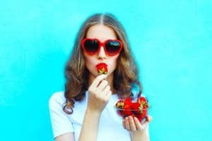 Include strawberries in your diet. They are an excellent source of collagen.