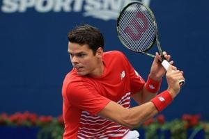 Milos Raonic beat Viktor Troicki 6-3, 6-4 in the first round of the Japan Open tennis tournament.