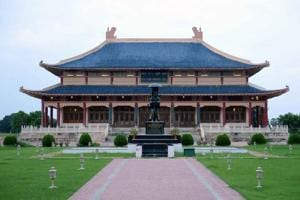 The Xuanzang Memorial Hall at  Nalanda.