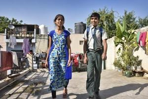 Naziya Naz, studies at the Government Senior Secondary School in Sangam Vihar while her brother Salman studies at the private Jagriti Public.