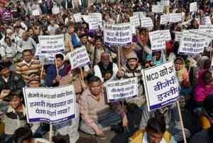 The corporation has not been able to pay regular salary to staff resulting in five strikes by sanitation workers in last three years.