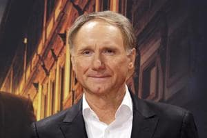 Author Dan Brown arrives for the premiere of Inferno in Berlin in October 2016. Brown