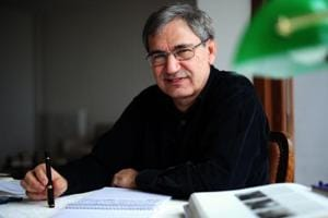 Turkish Nobel laureate author Orhan Pamuk at his house in Istanbul.