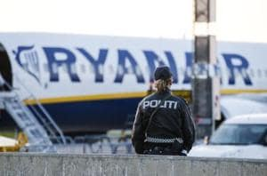 RAF jets escort Ryanair flight to Stansted airport after security...