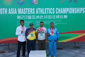 Winners from UP (from left) Siddharth Krishna, BN Mishra, Lal Bahadur Yadav and Shivnath with their medals.