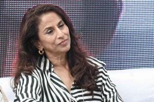 Author Shobhaa De at the Khushwant Singh Litfest in Kasauli on Friday.