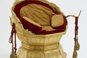 The golden throne of Maharaja Ranjit Singh.