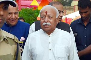 RSS chief Mohan Bhagwat in New Delhi on Friday.