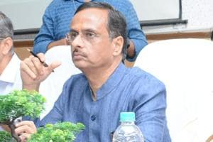 Uttar Pradesh deputy chief minister Dinesh Sharma holds GST meeting with traders in Lucknow