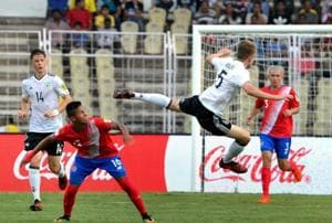 Costa Rica conceded a last-minute goal against Germany in their opening FIFA U-17 World Cup game while Guinea lost 1-3 to Iran.