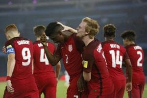 Ayo Akinola scored a crucial goal as USAclosed in on a spot in the next round with a 1-0 win over Ghana in the FIFAU-17 World Cup.