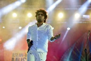Singer Papon performs at ASEAN Music Festival 2017 at Purana Qila.