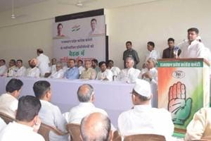 Rajasthan Congress president Sachin Pilot addressing newly elected Congress committee members.