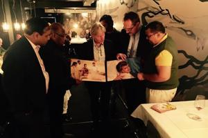 Prof Mishra along with experts during unveiling of feature film in Berlin of Germany.